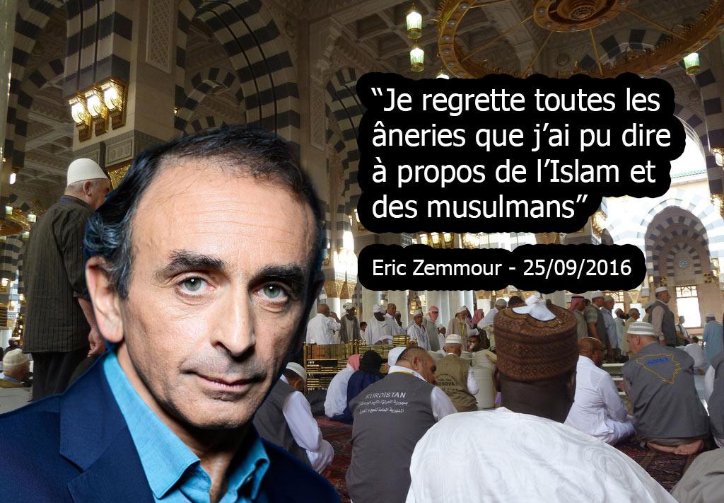 Eric Zemmour se converti à L'Islam, demande pardon aux musulmans et entretient une liaison avec Diam's !