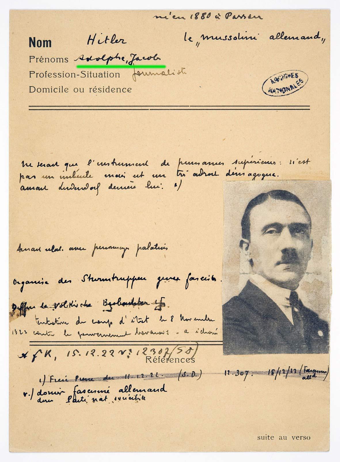 adolf-hitler-jacob-juif Incroyable mais vrai : Adolf Hitler était ... JUIF !