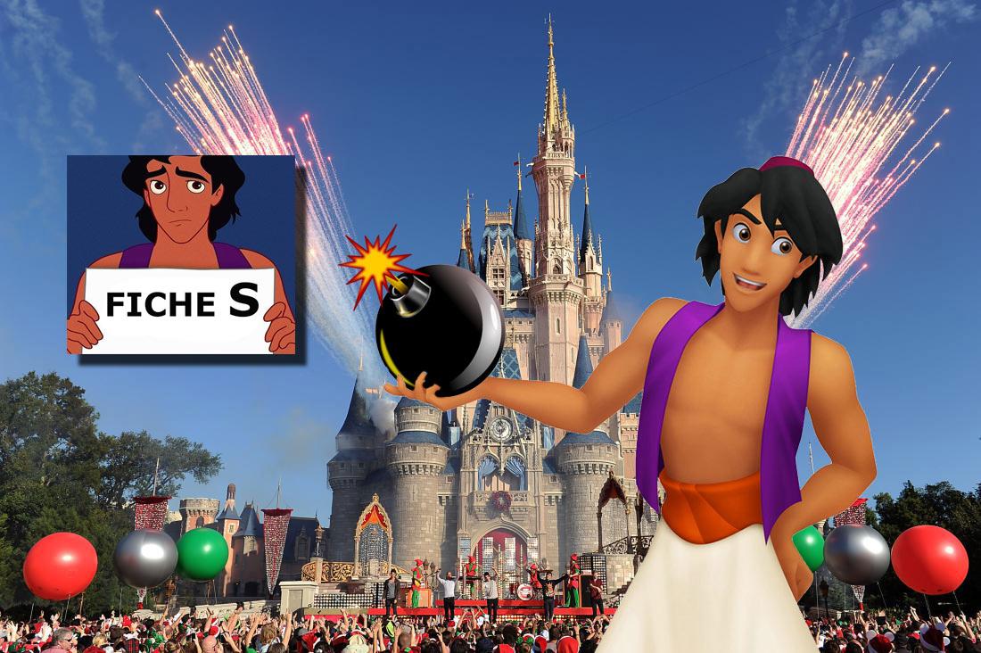 """Fiché """"S"""" depuis son retour d'Agrabah, Aladdin préparait un attentat à Disneyland Paris"""