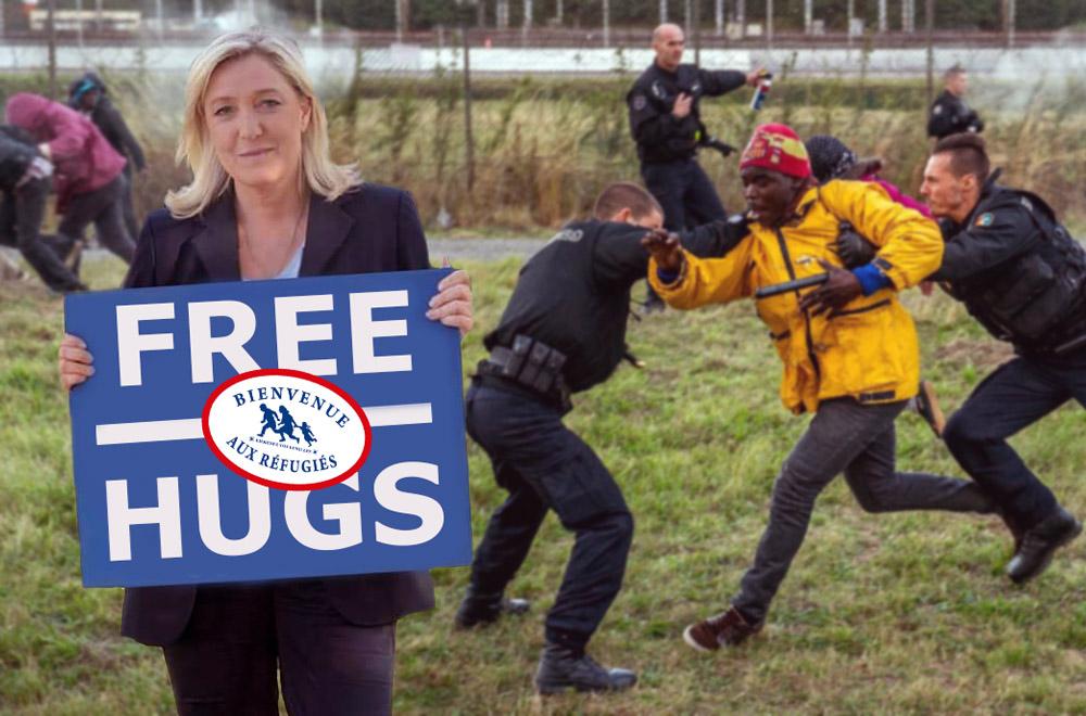 """Le Front National lance une opération """"Câlins Gratuits"""" pour accueillir les migrants"""