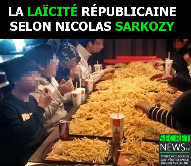 """medium_389381c Élimination de Sarkozy : Les élèves musulmans en pleurs - """"On voulait + de frites"""""""