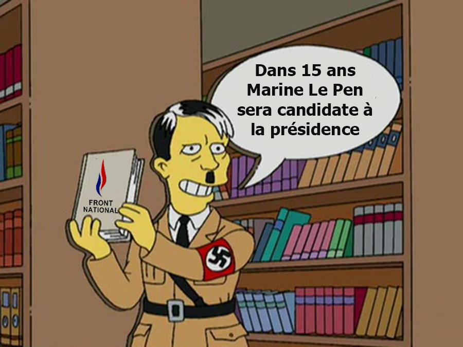 Les Simpson avaient prédit que Marine Le Pen serait candidate à la présidence de France