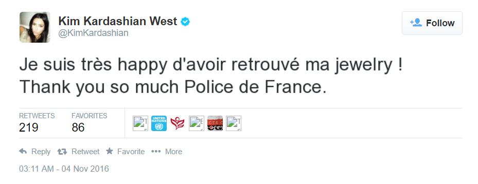tweet-kim-kardashian-jewelry Alain Juppé accusé de financer sa campagne avec les bijoux volés à Kim Kardashian