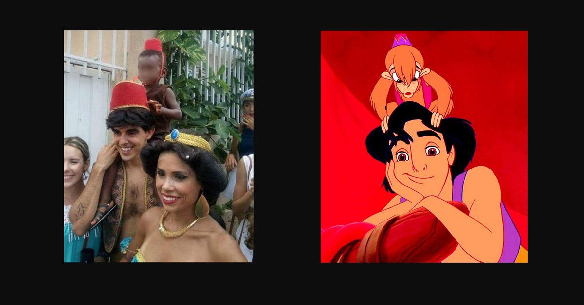 Abu Le Singe D Aladdin Remplacé Par Un Enfant Noir Dans La Grande
