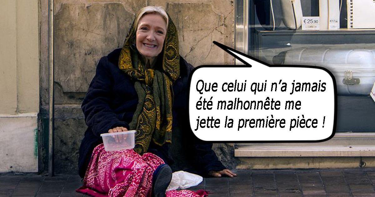 Marine Le Pen obligée de mendier en cachette pour payer ses dettes à l'Europe