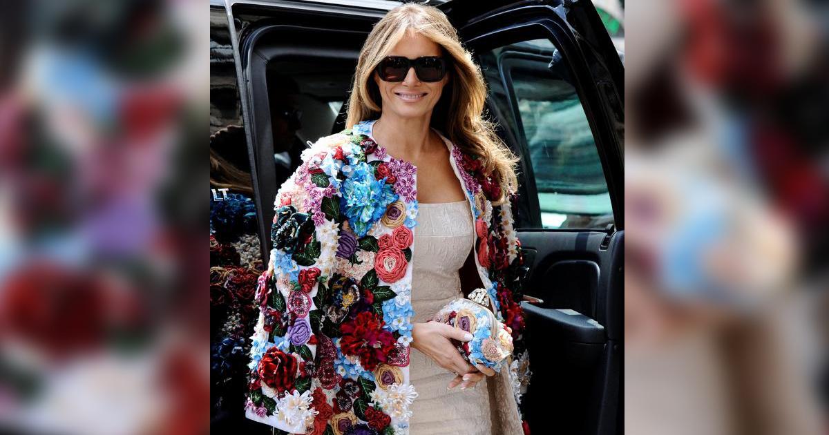 Sicile : Mélania Trump porte une robe décorée par des enfants de maternelle