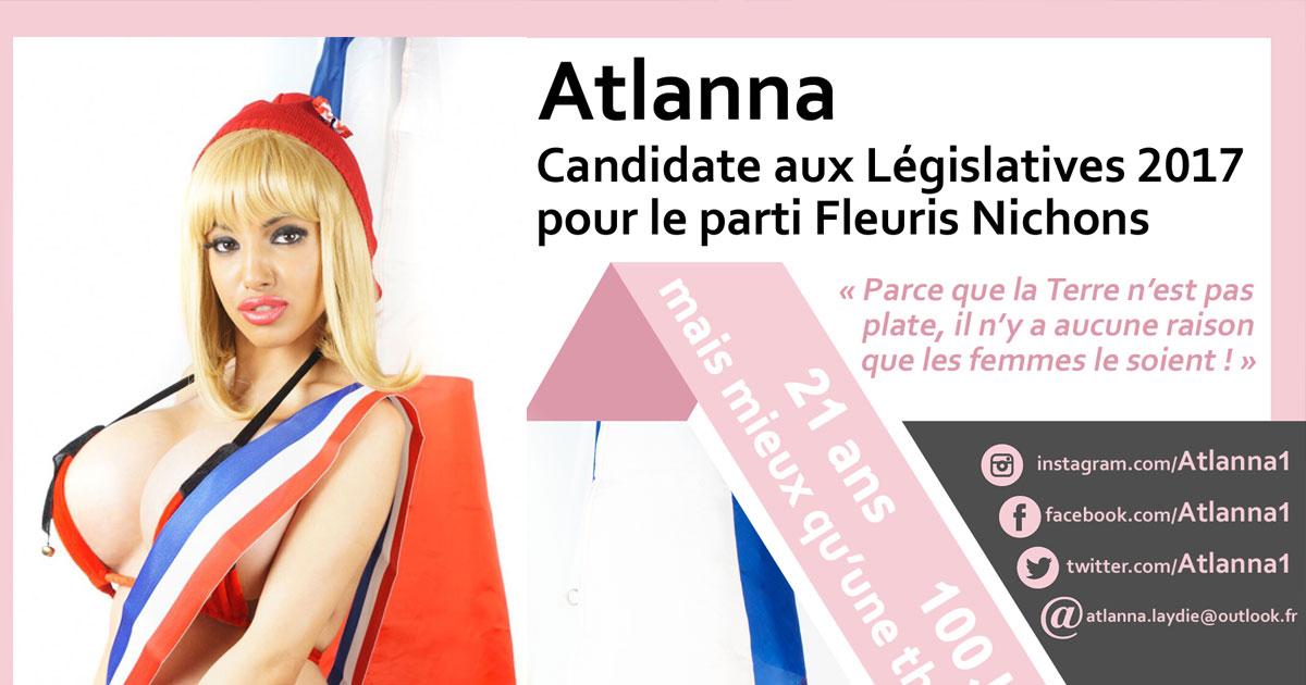 Liberté, Egalité, Fraternité, Gros nénés ! - Atlanna Laydie candidate aux Législatives pour le parti Fleuris Nichons