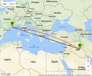 carte-marseille-irak-300x249 IRAK : Un «kill shot» à 3500 kilomètres pour un sniper marseillais