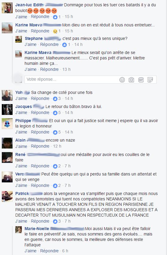 """commentaires-racistes-facebook-6-1 Quand les """"patriotes"""" se réjouissent d'un acte terroriste meurtrier, c'est aussi de la radicalisation"""