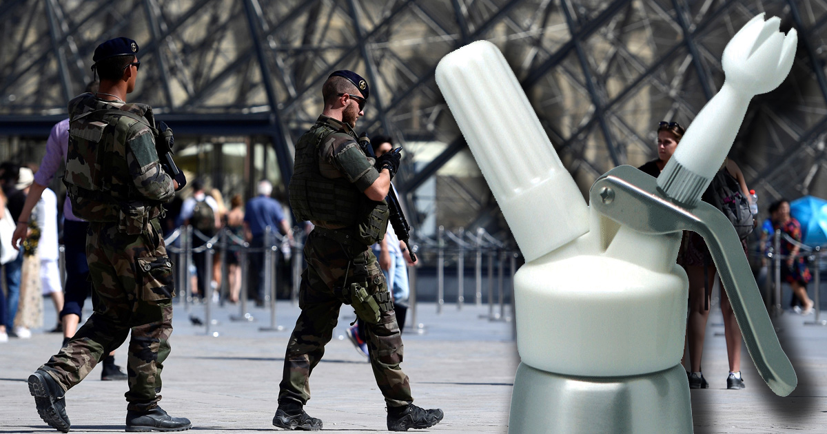 Macron veut croiser les fichiers S et les possesseurs de siphons à chantilly