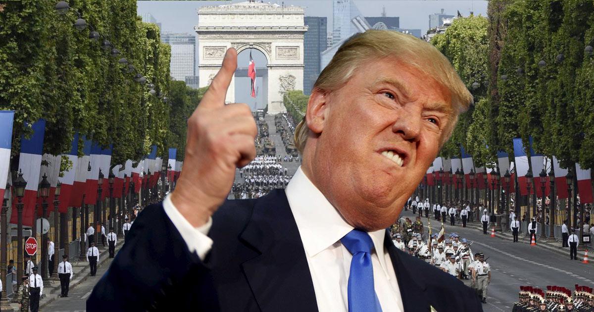 Donald Trump veut défiler en tête de la parade militaire du 14 juillet