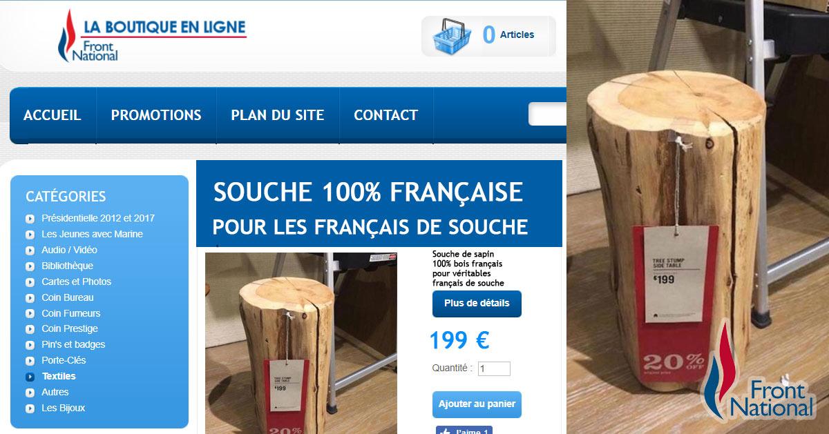 fran ais de souche profitez des souches 100 fran aises en promotion sur la boutique du front. Black Bedroom Furniture Sets. Home Design Ideas