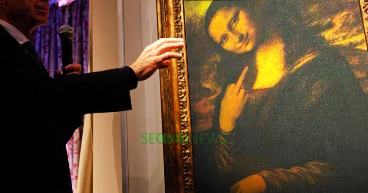 Une doigt d'honneur caché sous La Joconde de Léonard de Vinci ?