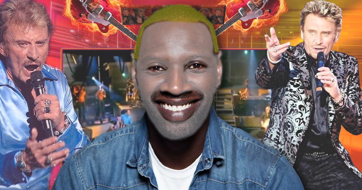Omar Sy suscite un tollé avec une photo de «whiteface» en hommage à Johnny Hallyday