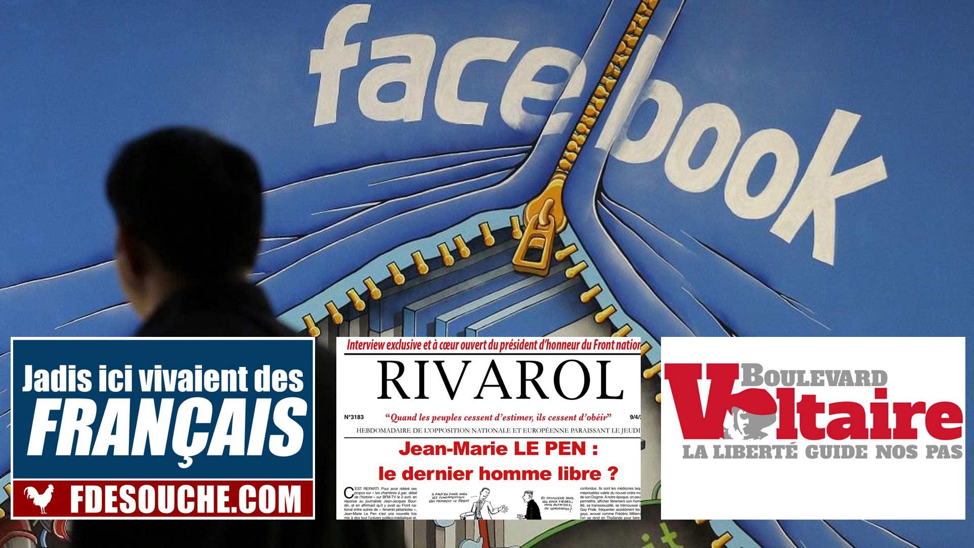 Facebook paye Rivarol, FdeSouche et Boulevard Voltaire pour trier les sites racistes