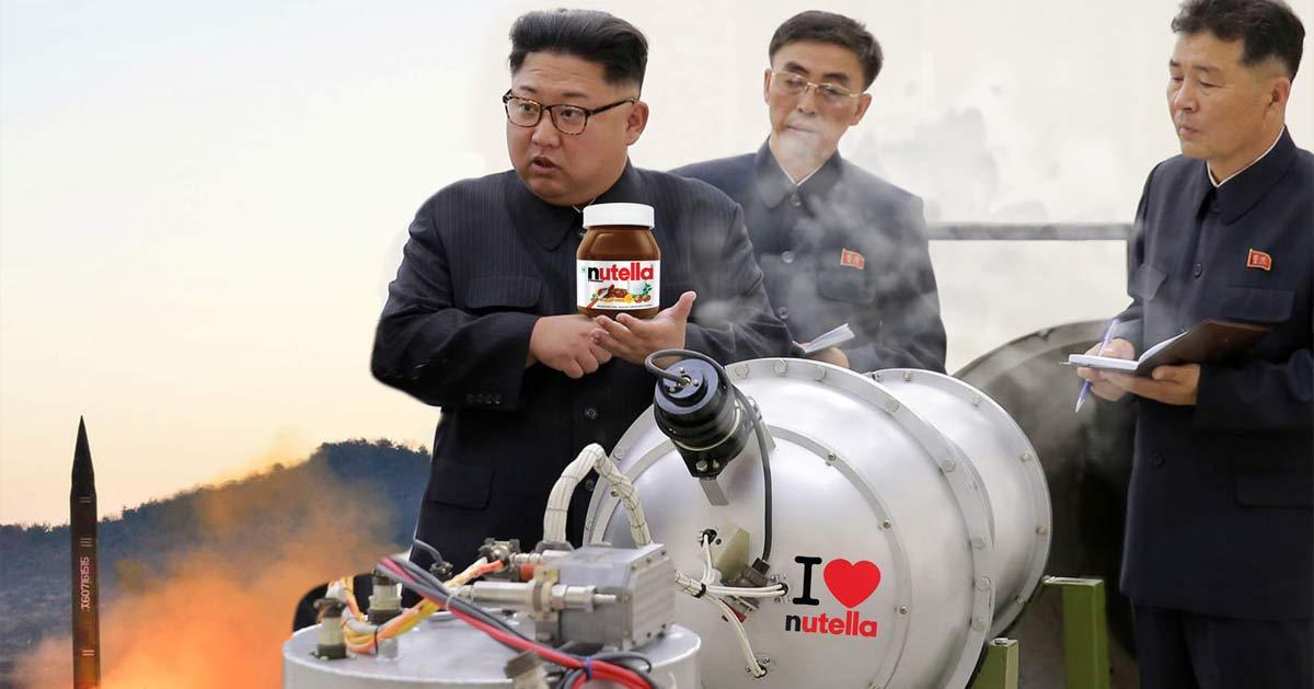 Kim Jong Un prépare des bombes au Nutella pour créer des guerres civiles en occident