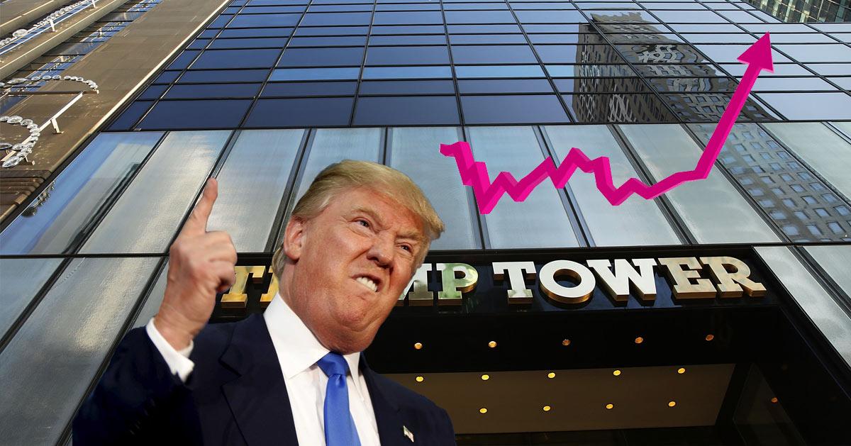 Pour remonter la bourse, Trump veut déménager Wall Street au sommet de la Trump-Tower