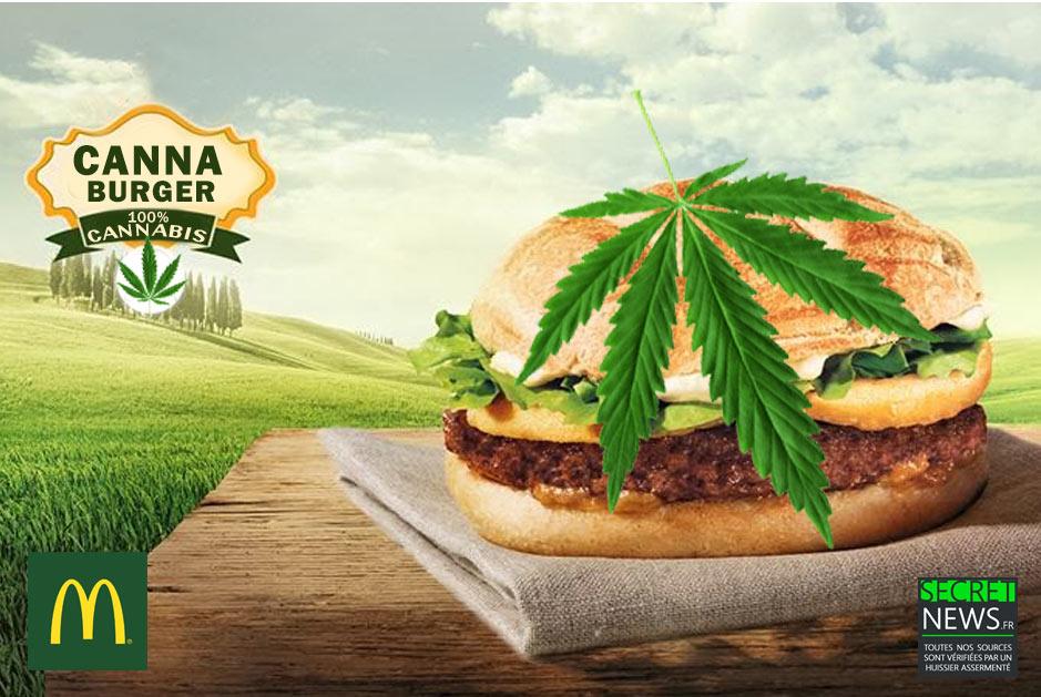 cannaburger-cannabis-burger-marijuana-2-1 McDonald's lance un burger au cannabis disponible dans les pays ayant légalisé la marijuana