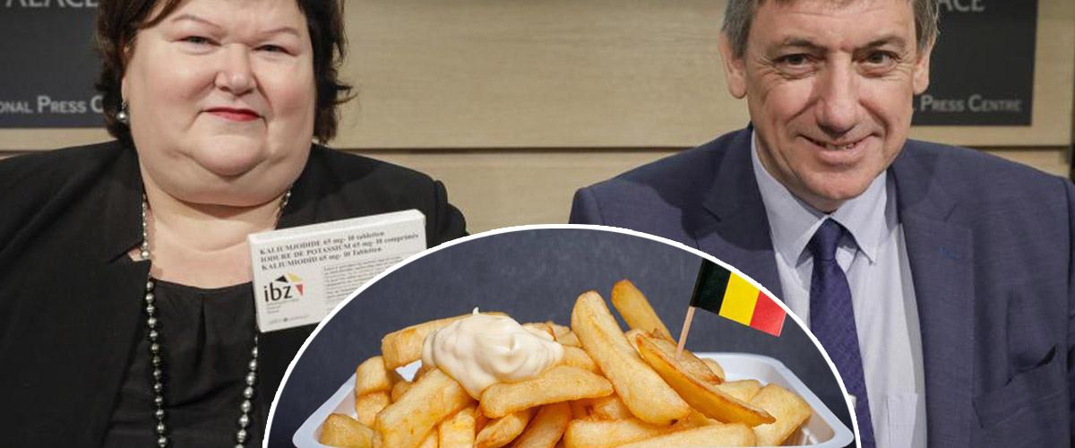 Plan d'urgence nucléaire en Belgique : la ministre de la santé conseille 2X plus de sel iodé sur les frites