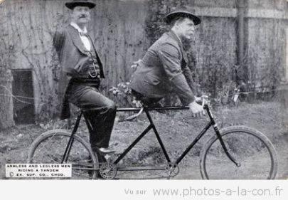 Le tout premier tandem a été inventé par deux amis qui avaient besoin l'un de l'autre ...