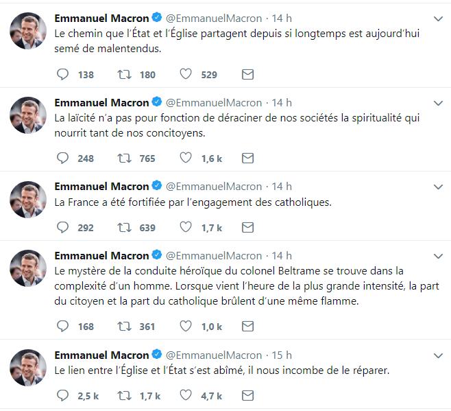 001 Emmanuel Macron instaure la république de droit divin - le cardinal Barbarin devient premier ministre