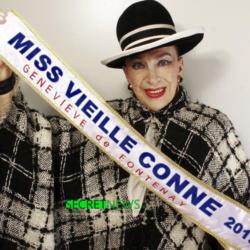 Geneviève de Fontenay présidera le nouveau concours de Miss Vieille Conne
