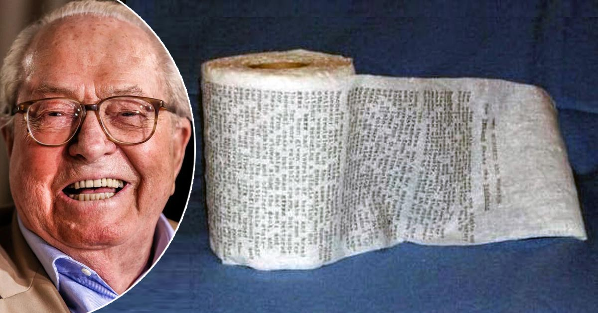 papier-wc-memoires-jean-marie-le-pen Marc Dutroux: « Si j'avais été prêtre, j'aurais pas eu autant d'emmerdes ! »