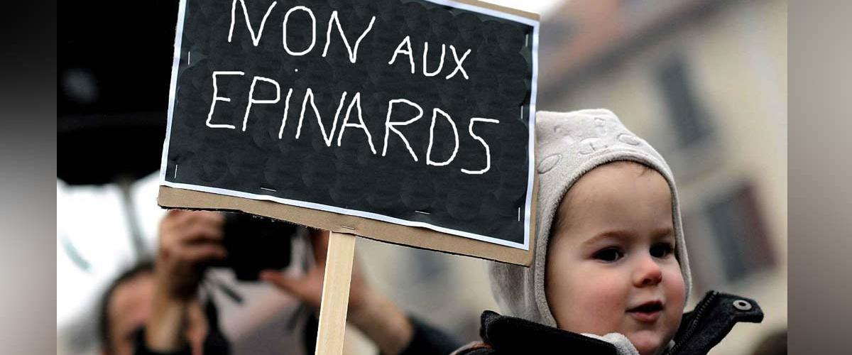 Abandon de l'âge minimal du consentement pour manger des épinards : les enfants en colère