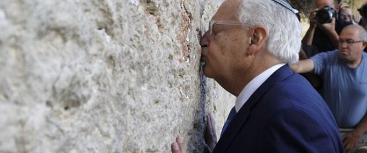 Le nouvel ambassadeur des USA en Israël suspecté d'avoir eu des relations sexuelles avec un mur