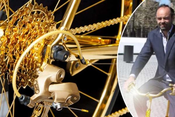 Édouard Philippe et son vélo en or 24 carats à 320 000 € pour aller à la boulangerie le dimanche matin