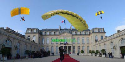 Des Gilets Jaunes se font parachuter au dessus de l'Élysée et envahissent le Palais par voie aérienne
