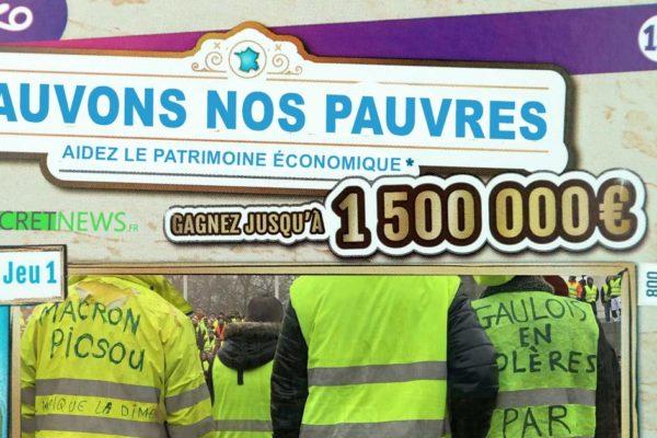 «Sauvons nos pauvres» – La hausse du SMIC sera financée par un Loto du Patrimoine Économique