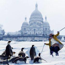 Neige : des pingouins à Montmartre !