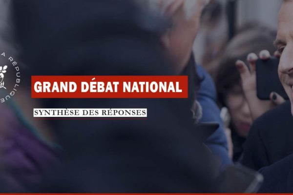 Grand débat national : l'Élysée publie à l'avance la synthèse des réponses