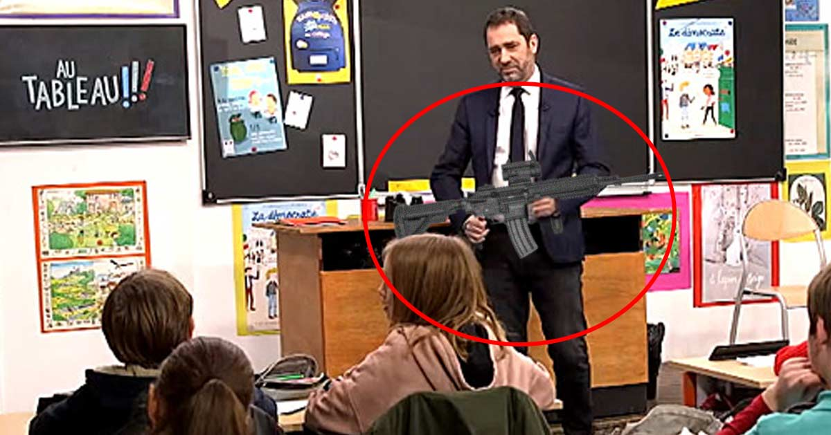 Castaner présentera aux enfants le fusil d'assaut HK416 dans la prochaine émission «Au tableau !»