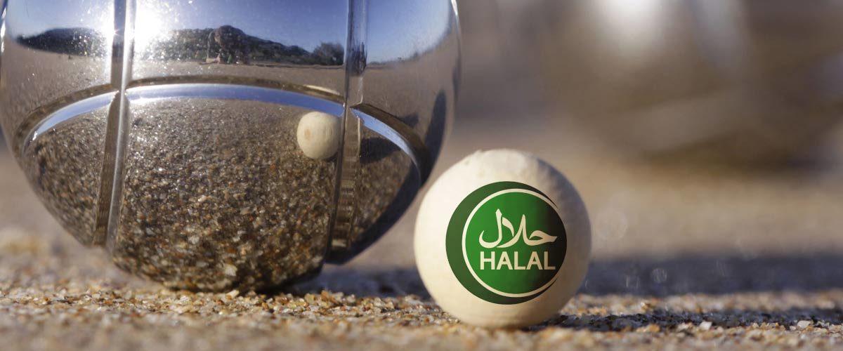 Un cochonnet halal (moutonnet) vendu pour jouer à la pétanque islamique