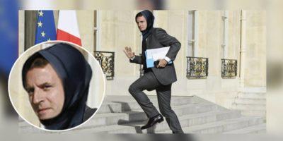 Macron enfile un «hijab de course» chaque matin pour venir plus vite à l'Élysée