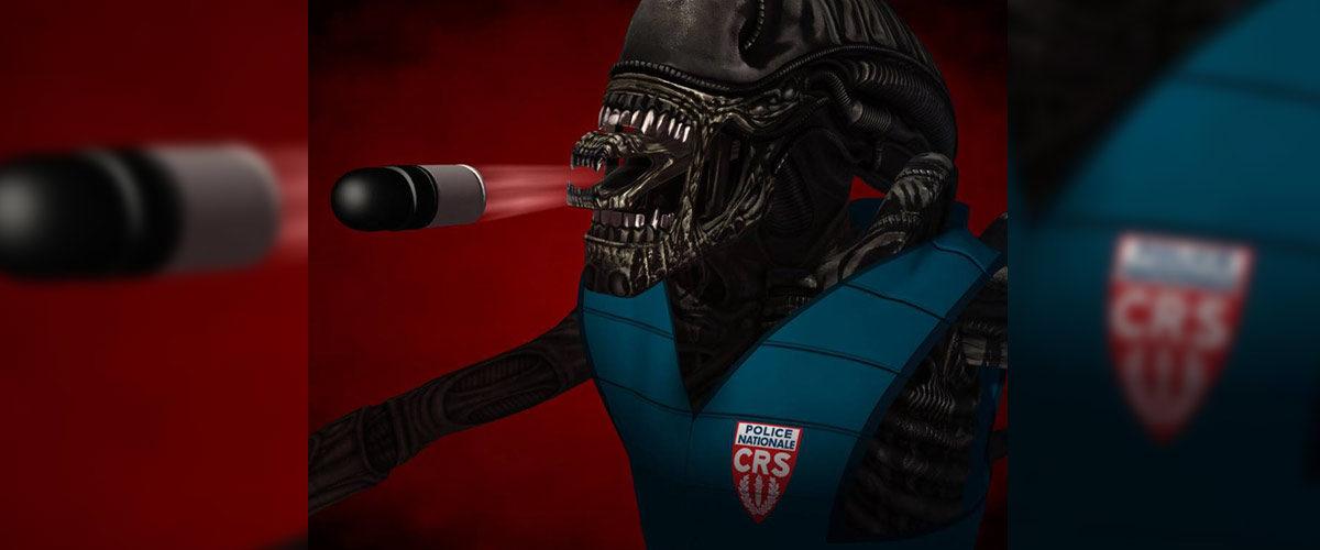 Acte Final : des aliens lanceurs de balles de défense éradiquent les Gilets Jaunes