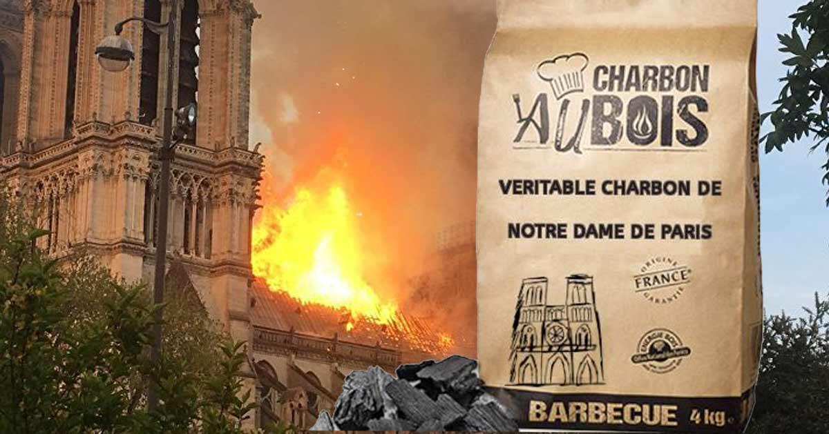 Du charbon de bois «Notre-Dame de Paris» en vente pour financer la rénovation